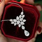 Gorgeous Cubic Zirconia Women Engagement Jewelry 925 Silver Necklaces Pendants