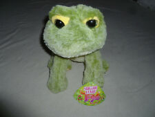 NEW W TAG GREEN SPARKLE EYES FROG PLUSH SUGAR LOAF TOYS NWT GAMER GREEN TOY >>