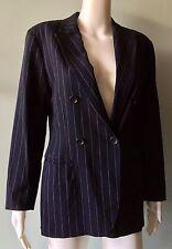 JIL SANDER Vtg Navy Pinstripe Style Blazer Jacket  Women's EU 34 Italy