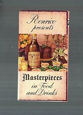 Exquisite Vgc 1940s Ronrico Masterpieces Food & Drinks Recipes Booklet Pamphlet