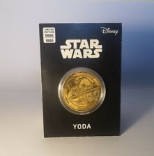 More details for rare serial number 666 - yoda star wars commemorative collectable coin -  fast ✅