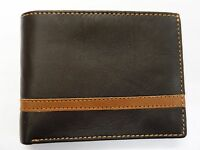 Sheep Skin Leather Wallet With Coin Pocket and interior Leather Lined Dark Brown