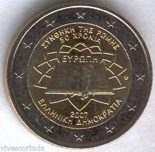 Nuevo diseño 2 Euros Grecia 2007 @ Tratado de Roma @