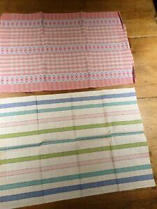 2 x Large Vintage Cotton Tea Towels   Xmas GIFT