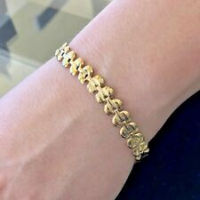 Stunning Classy Lovely smooth 18KY Gold Ladies Italian bracelet