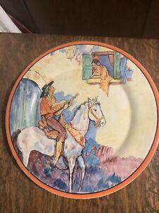 "Catalina Island Pottery Wall Plate 10 1/4"" Mandolin Player/Singer FM Graham"