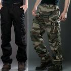 Algodón Hombre Militar Combate Pantalones Camuflaje Trabajo
