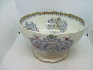 Antique Lockhart & Co Pollockshaws Persia large footed ceramic bowl