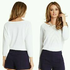 NWT GUESS BY MARCIANO WHITE Riviera Sweater SIZE M