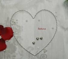 1 - 50 Draht - Herz Herzen Hochzeit Rohling für Girlande Blüten Autoschmuck 20cm
