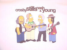 Crosby Stills Nash Young CSNY T-Shirt SIMPSONS Neil Stephen David Graham