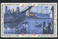 EE. UU. 1973 barcos/Marino/Barco/Boston Tea Party/transporte/la política negro 4v S-T (n24373)