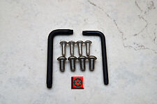 Security Theft Deterrent Screws for AUDI FRONT & REAR License Plate Frame (8pcs)