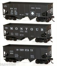 Accurail Berwind-Montour-Interstat e 2-Bay Hopper Car Kits (3 car set) Nib