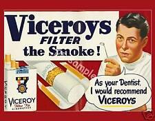 VICEROYS CIGARETTES - dentist Vintage Ad - Flexible Fridge Magnet