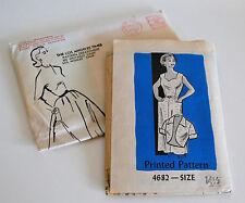 1958 Los Angeles Times Wiggle Sheath Dress & Bolero Jacket Pattern Bust 35 Uncut