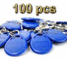 100pcs Proximity EM4100 125KHz RFID ID Card Tag Token Key Chain Keyfobs