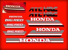 1985 85' honda ATC 250ES Big Red ATC 11pc Gas Tank Decals Stickers 250 es