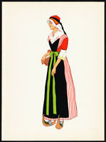 Costume Print-PYRENEES-VALLEE DE BETHMALE-FRANCE-1939