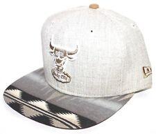 Chicago Bulls Native Brim 9FIFTY New Era (OG Fit) SnapBack Heather Oatmeal-Wheat