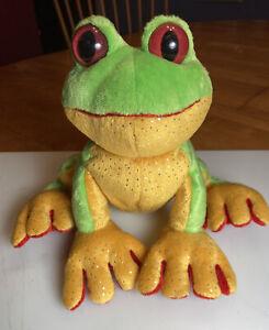 "Ganz Webkinz RED EYED TREE FROG Plush Stuffed Animal 8"" long NO CODE"