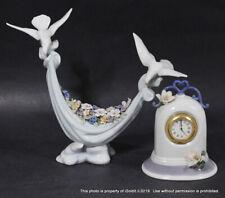 2-Pc Lladro Porceline Figurine 6579 Petals Of Peace + Reflections Clock 6601