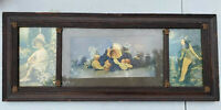 """ANTIQUE PICTURE AND FRAME 28"""" x 11 1/2"""""""