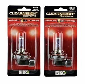Eiko ClearVision Supreme H10 9145 42W Two Bulbs Fog Light Upgrade Plug Play DOT