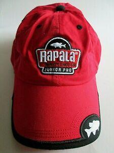 RAPALA Red Cap Junior Pro Fishing Embroidered Size Youth Kudzu Baseball Hat