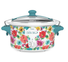 Slow Cooker Crock Pot Country Floral 6 Qt Home Kitchen Cooking Appliance New