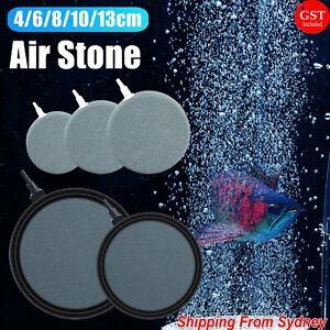 Round Air Stone Disk Bubble Diffuser Airstone Hydroponics Aquarium Fish Tank