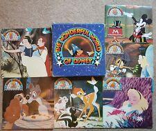 The Wonderful World Of Disney six vinyl LP box set, 1977 FREE P&P