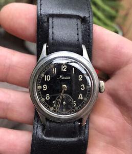 German WW2 DH Minerva Military Watch Rare