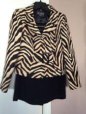 Women's Liz Claiborne Animal Print Skirt Suit, Size 2P