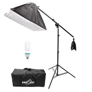 Continuous Lighting 150W Kit Softbox Studio Photography Light Stand Photo UK