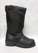 Coach Betsie Black Nylon Leather Boots - size 6