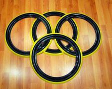Goodyear F70-15 Tire style Black Yellow line stripe Set4 Ford chevy Mopar Beetle