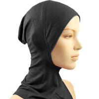 Under Scarf Cap Bone Bonnet Hijab Head Wear Neck Cover Muslim Women Black white
