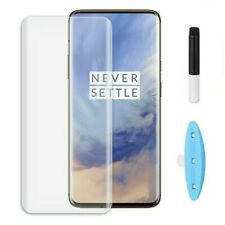 For One Plus 7 Pro 6D Curved Full Glue UV Tempered Glass Screen Protector Film