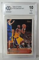 KOBE BRYANT 1996-97 Topps #138 ROOKIE CARD! BCCG 10 GEM MINT! Perfect! BGS PSA🔥