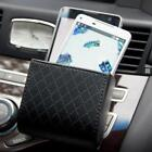 Car Air Vent Outlet Phone Faux Leather Pocket Storage Box Bag Holder Pouch N3