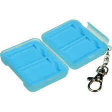 Ruggard Memory Card Case for 4 SD Cards (Light Blue)