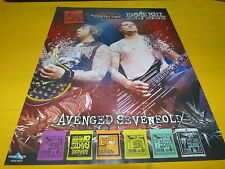 AVENGED SEVENFOLD - - Publicité de magazine / Advert Ernie Ball !!!!!!!