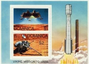 Dominica 1976 - Viking Mission to Mars - Stamp S/S - MNH