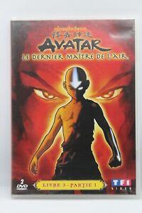 """2 dvd """" Avatar """" Le dernier maitre de l'air livre 3 partie 1 tf1"""