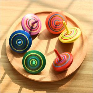 6pcs Wooden Spinning Balance Top Peg-Top Kids Children Educational Classic Toys