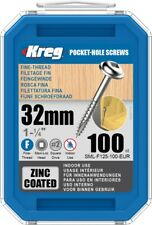 Kreg Zinc Pocket-Hole Screws 50.8 x 76.2 x 127 cm SML-F125-100-EUR