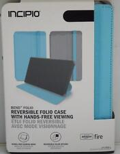 Amazon Kindle Fire HD 7 4th Gen Incipio Bend Reversible Folio Case Blue 2014