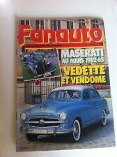 FANAUTO N°208 FEVRIER 1986 MASERATI AU 24h LE MANS 1962 1965 AUTO HEBDO