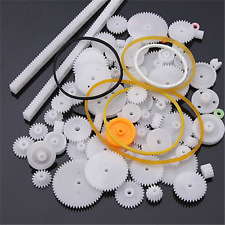 1Set/ 75pcs New Plastic Rack Pulley Belt Worm Gear DIY Kit Robot Accessories